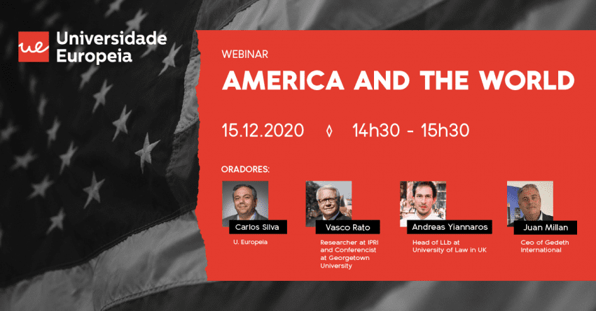 """America and the World"" é o próximo webinar da Universidade Europeia"