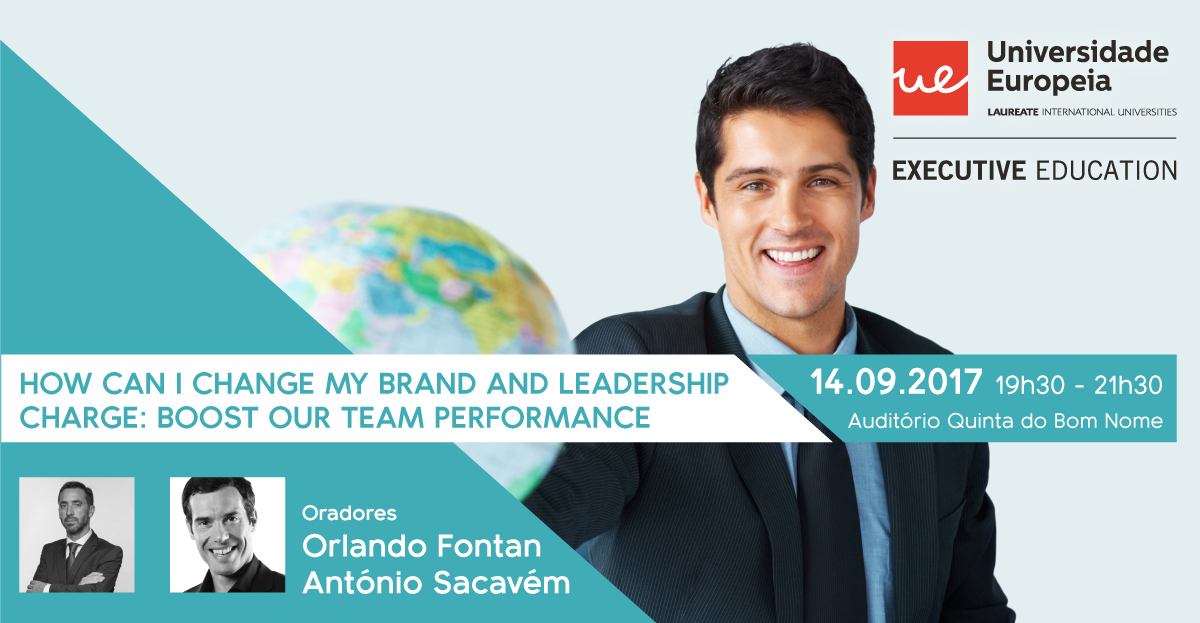 "Conferência | ""How can I change My Brand"" and ""Leadership Charge: Boost Our Team Performance"""